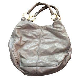 MIU MIU Glazed Leather Hobo. EUC